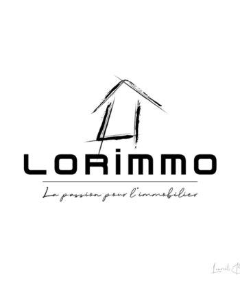 logo immobilier maison pinceau