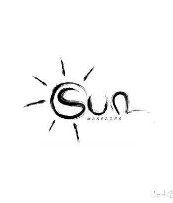 logo pinceau luxe massage